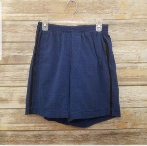 Lululemon Men's Blue & Black Athletic Shorts M
